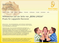Webdesign Logopädie Praxis Hannover