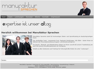 Webdesign Manufaktur sprechen Sprachtraining Hannover