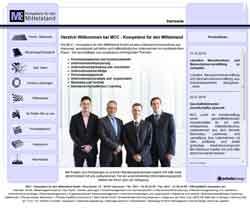 Webdesign MCC Kompetenz für den Mittelstand Unternehmensberatung Sanierungsberatung Hannover