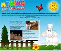 Webdesign Merino Kindermusical Kindewebseite Wennigsen