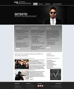 Webseite Sicherheitsdienst Webdesign Hannover