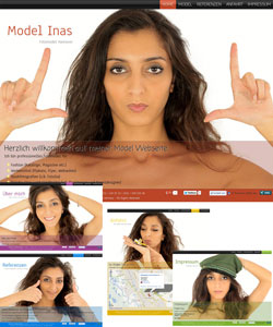 Webdesign Model Inas Fotomodel Hannover