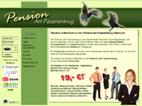 Webdesign Webseite Pension am Fasanenkrug Hannover