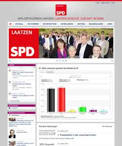 Webdesign Webseite der SPD-Laatzen