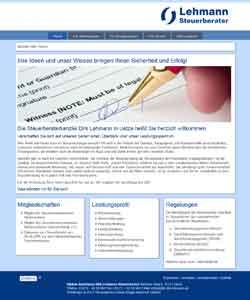 Webdesign Steuerberater Dirk Lehmann Uetze