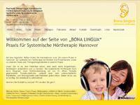 Webdesign BONA LINGUA Praxis für Systemische Hörtherapie Hannover