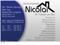 Webdesign Tischlerei Nicolai Quiring Hannover