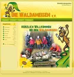 Webdesign Webseite Waldameisen Wald Kindergarten Hemmingen