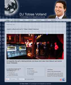Webdesign Re-Webdesign DJ Tobias Volland Hannover