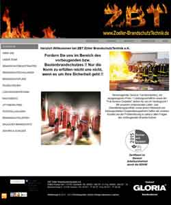 Webdesign Brandschutztechnik Feuerlöscher Brandschutz